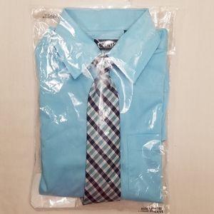 CHAPS Boys Light Blue Dress Shirt w/Tie